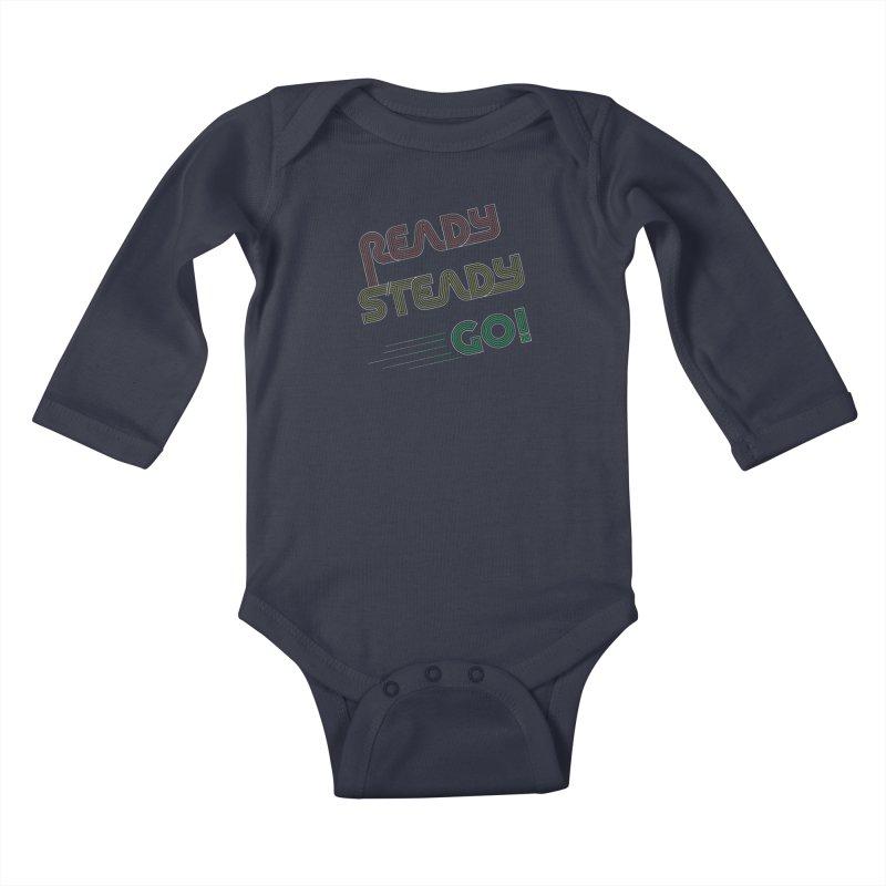Ready Steady Go! Kids Baby Longsleeve Bodysuit by 84collective