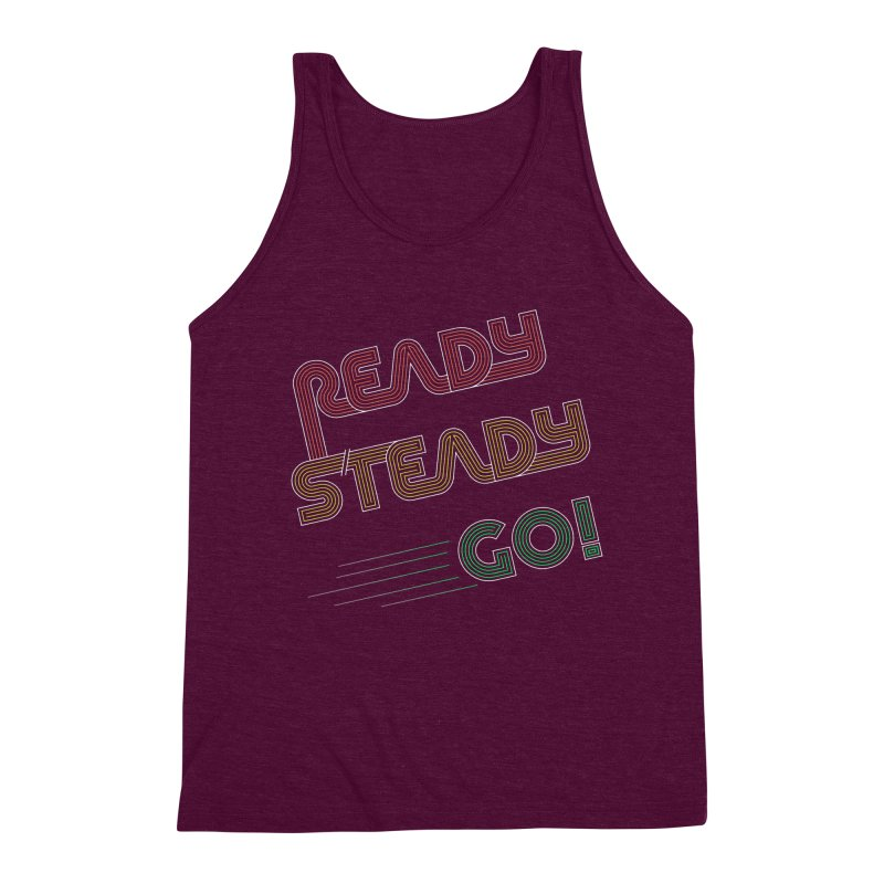 Ready Steady Go! Men's Triblend Tank by 84collective