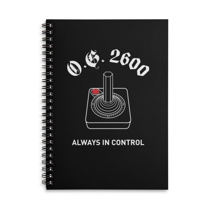 OG 2600 Always in Control (Joystick) Accessories Lined Spiral Notebook by 84collective