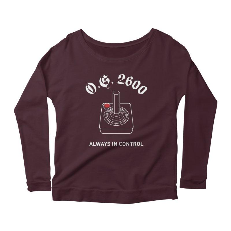 OG 2600 Always in Control (Joystick) Women's Scoop Neck Longsleeve T-Shirt by 84collective