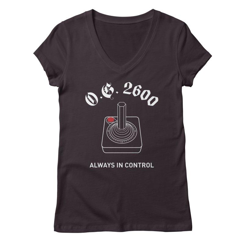 OG 2600 Always in Control (Joystick) Women's Regular V-Neck by 84collective