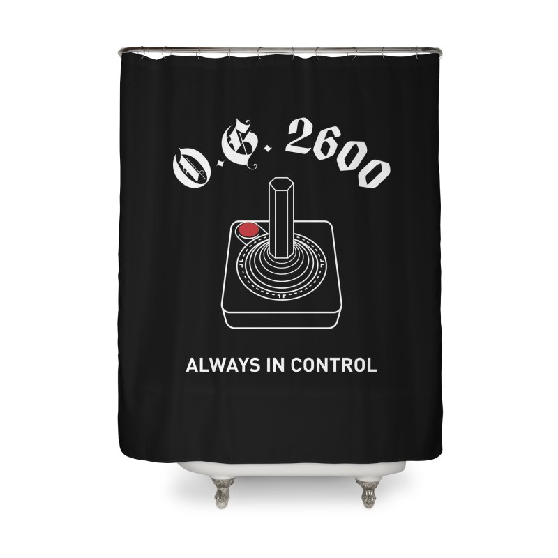 OG 2600 Always in Control (Joystick) Home Shower Curtain by 84collective