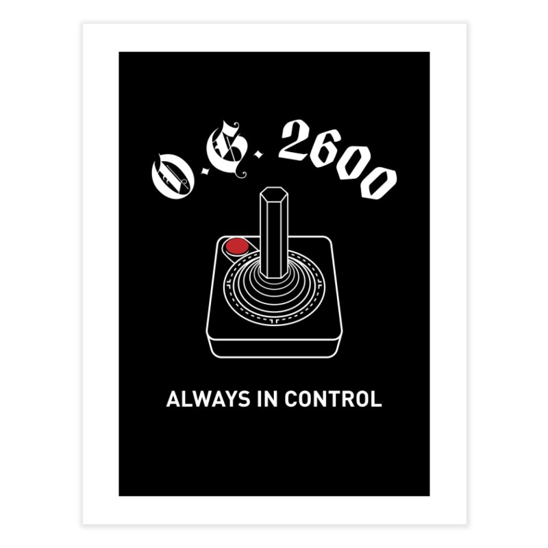 OG 2600 Always in Control (Joystick) Home Fine Art Print by 84collective
