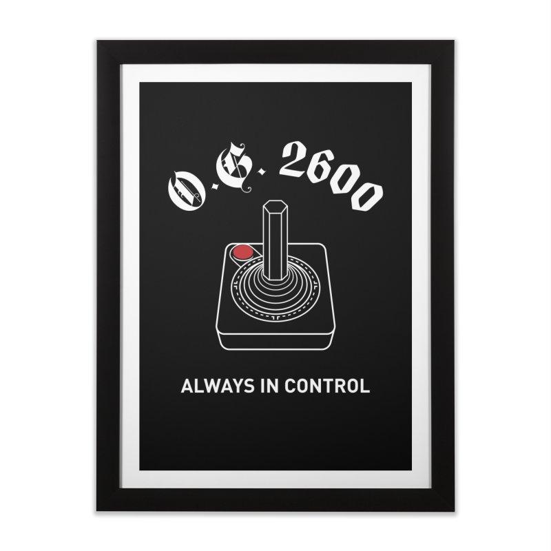 OG 2600 Always in Control (Joystick) Home Framed Fine Art Print by 84collective