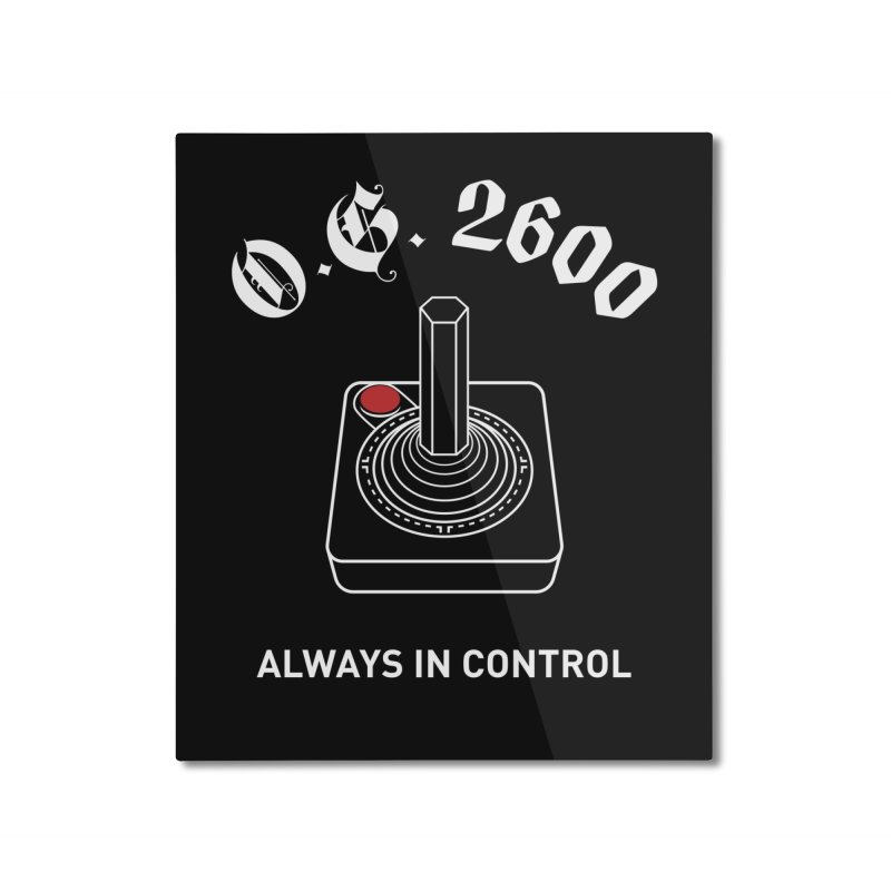 OG 2600 Always in Control (Joystick) Home Mounted Aluminum Print by 84collective