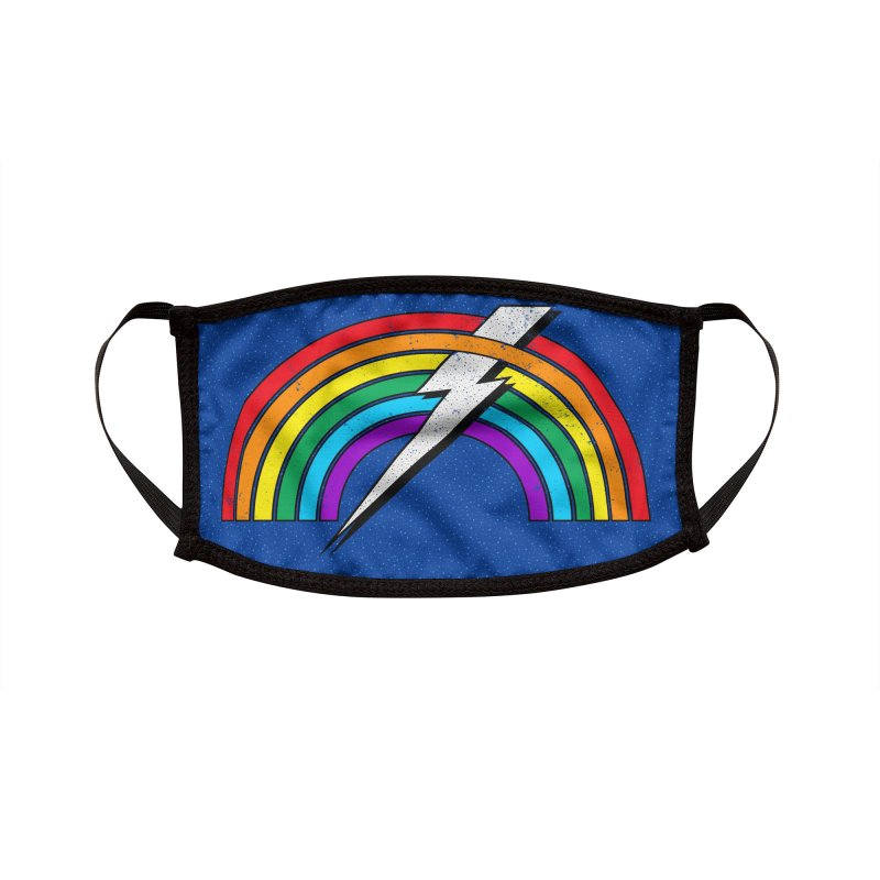 Powered By Rainbow Lightning Accessories Face Mask by 84collective