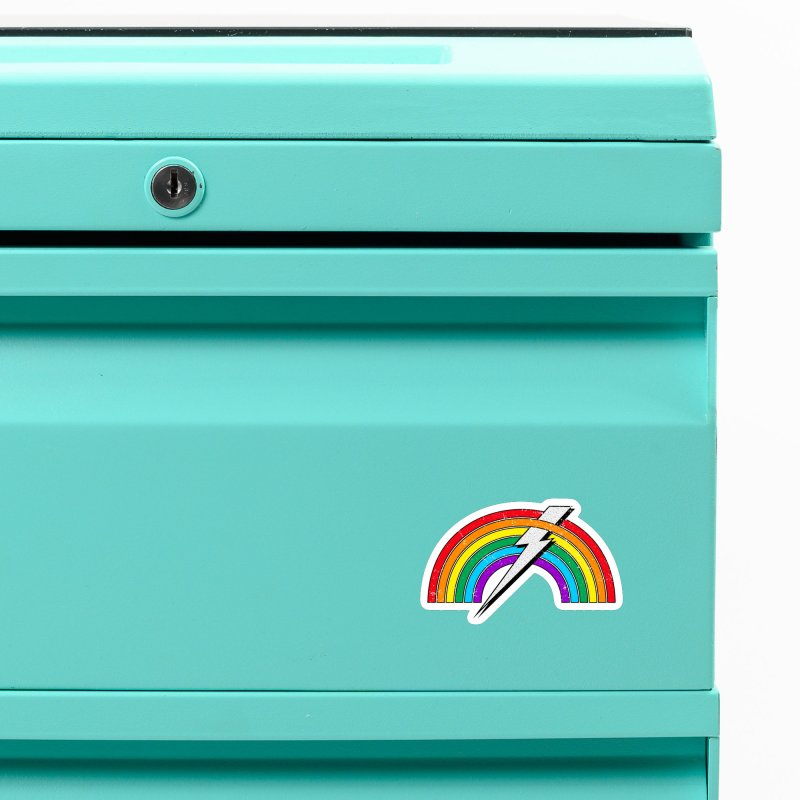 Powered By Rainbow Lightning Accessories Magnet by 84collective