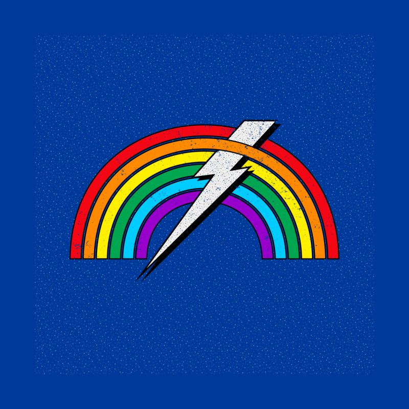 Powered By Rainbow Lightning Home Shower Curtain by 84collective