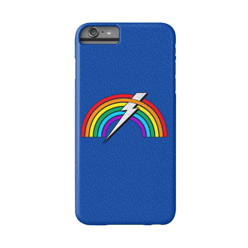 Powered By Rainbow Lightning Accessories Phone Case by 84collective