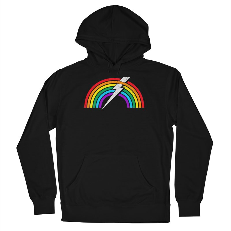 Powered By Rainbow Lightning Women's French Terry Pullover Hoody by 84collective