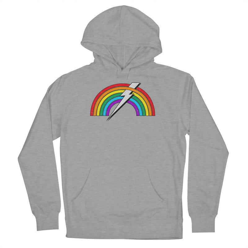 Powered By Rainbow Lightning Men's French Terry Pullover Hoody by 84collective