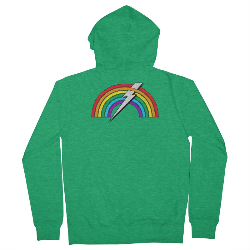 Powered By Rainbow Lightning Men's Zip-Up Hoody by 84collective