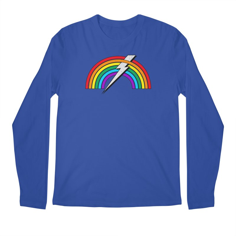 Powered By Rainbow Lightning Men's Regular Longsleeve T-Shirt by 84collective