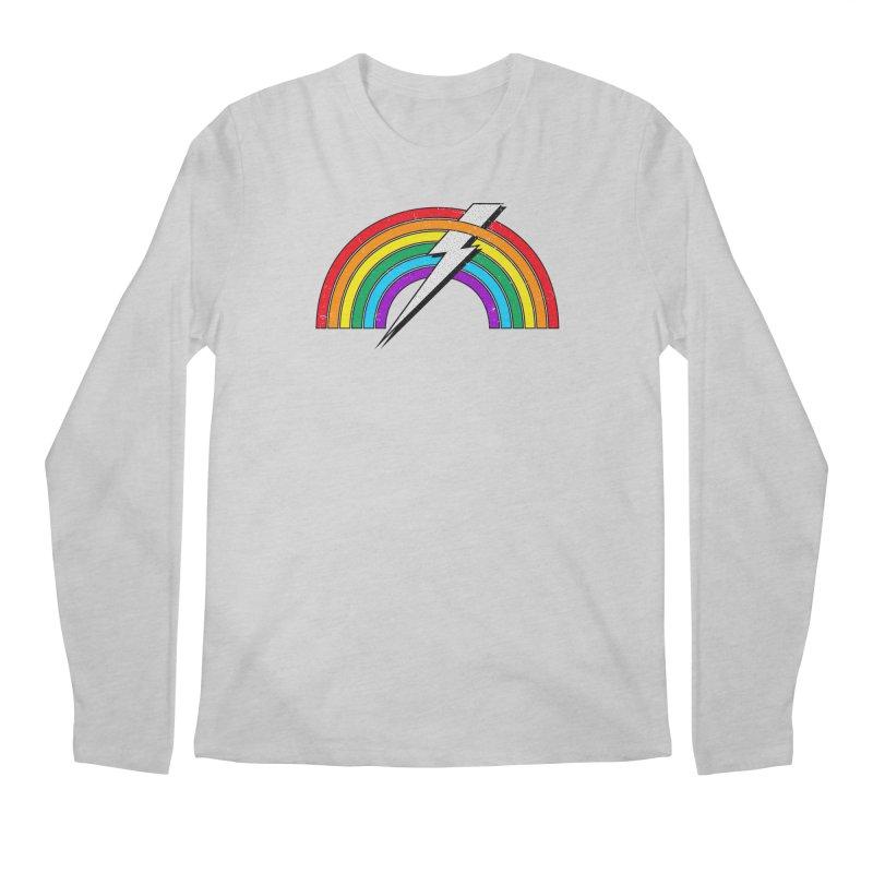 Powered By Rainbow Lightning Men's Regular Longsleeve T-Shirt by 84collective