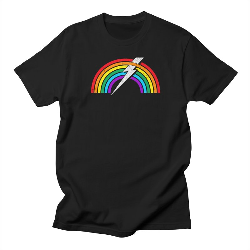 Powered By Rainbow Lightning Women's Regular Unisex T-Shirt by 84collective