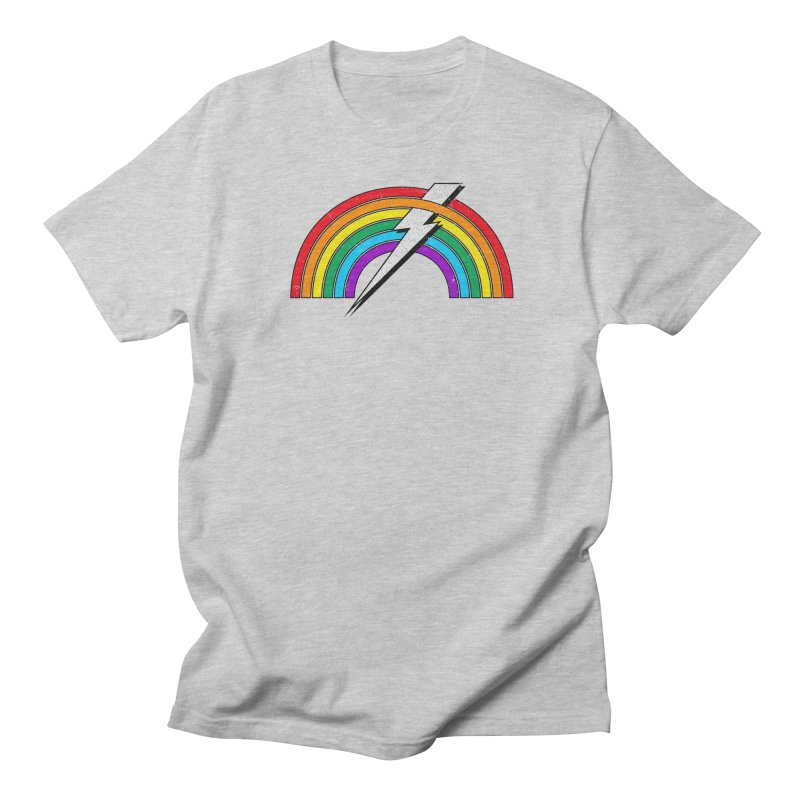 Powered By Rainbow Lightning Men's Regular T-Shirt by 84collective