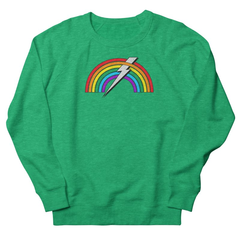 Powered By Rainbow Lightning Women's Sweatshirt by 84collective
