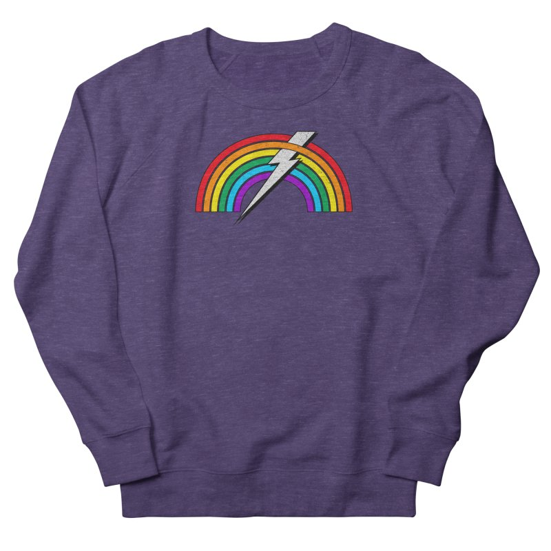Powered By Rainbow Lightning Women's French Terry Sweatshirt by 84collective