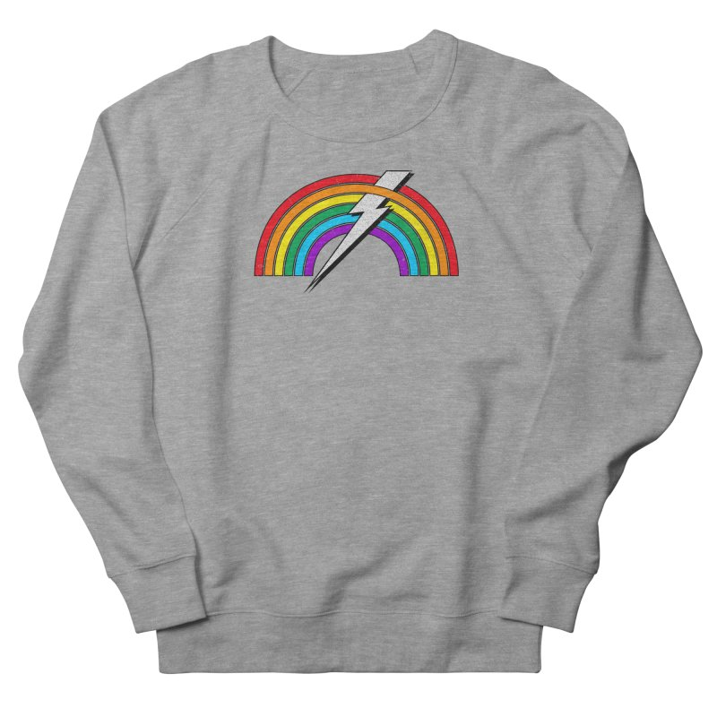 Powered By Rainbow Lightning Men's French Terry Sweatshirt by 84collective