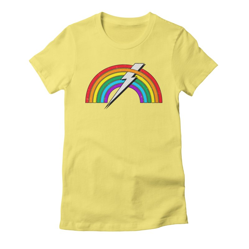 Powered By Rainbow Lightning Women's T-Shirt by 84collective