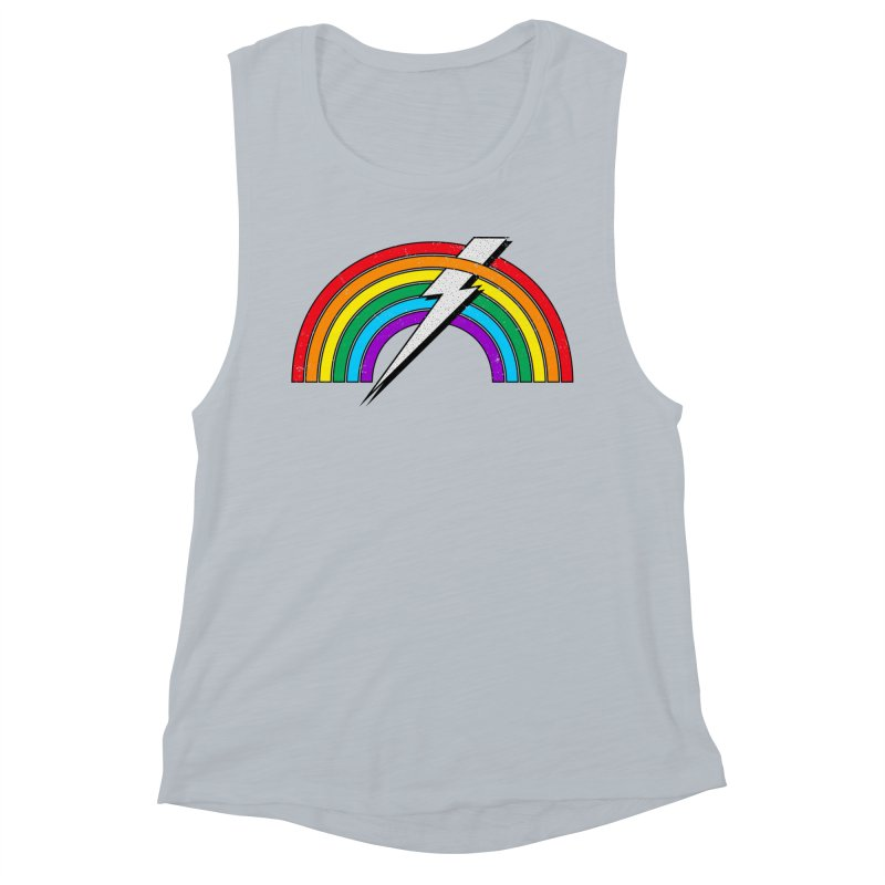 Powered By Rainbow Lightning Women's Muscle Tank by 84collective