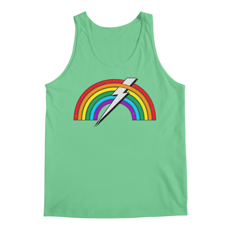 Powered By Rainbow Lightning Men's Tank by 84collective