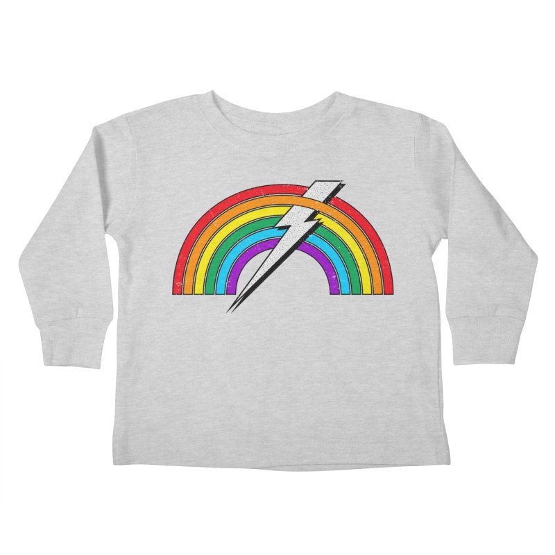 Powered By Rainbow Lightning Kids Toddler Longsleeve T-Shirt by 84collective