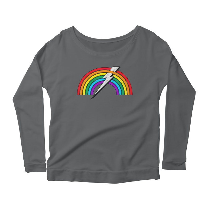 Powered By Rainbow Lightning Women's Longsleeve T-Shirt by 84collective