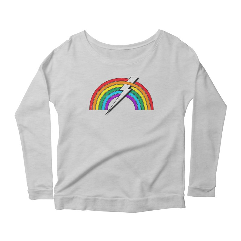 Powered By Rainbow Lightning Women's Scoop Neck Longsleeve T-Shirt by 84collective