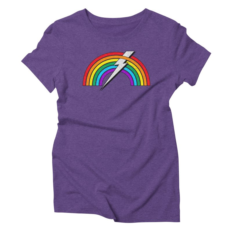 Powered By Rainbow Lightning Women's Triblend T-Shirt by 84collective