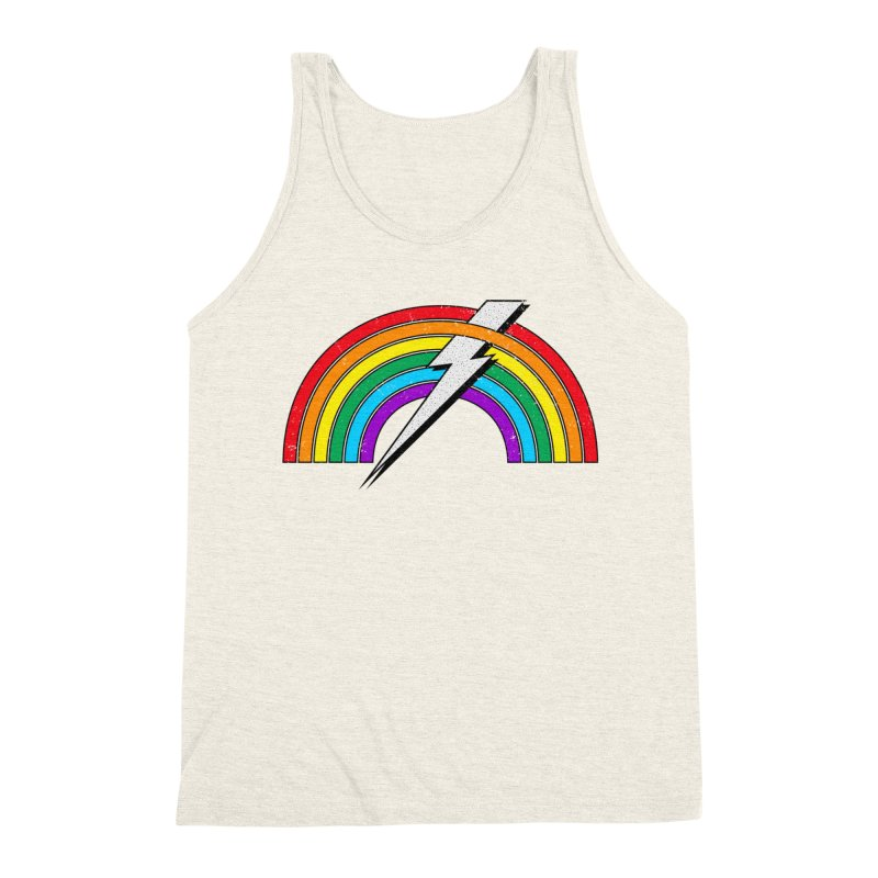 Powered By Rainbow Lightning Men's Triblend Tank by 84collective
