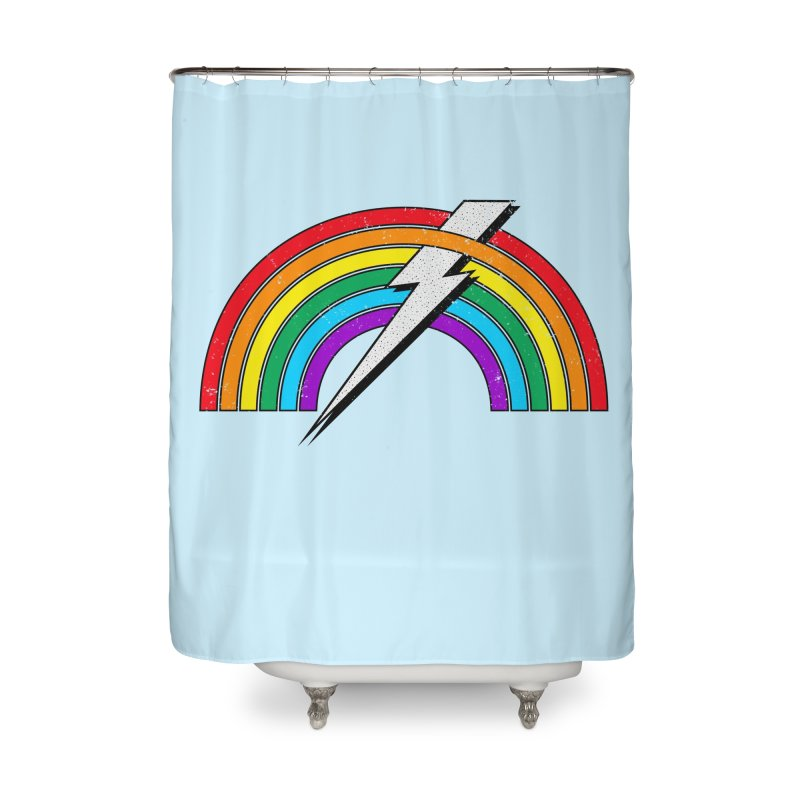 Equal Power Home Shower Curtain by 84collective