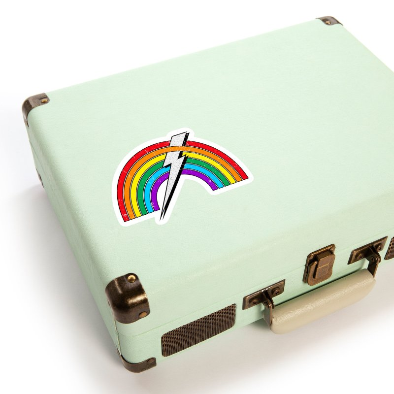 Powered By Rainbow Lightning Accessories Sticker by 84collective