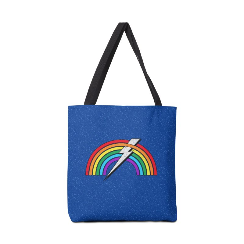 Powered By Rainbow Lightning Accessories Tote Bag Bag by 84collective