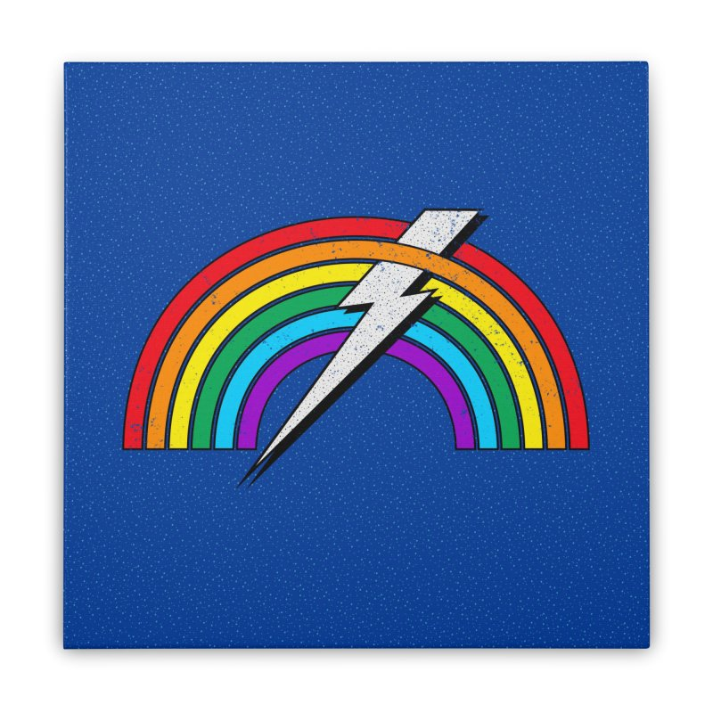 Powered By Rainbow Lightning Home Stretched Canvas by 84collective