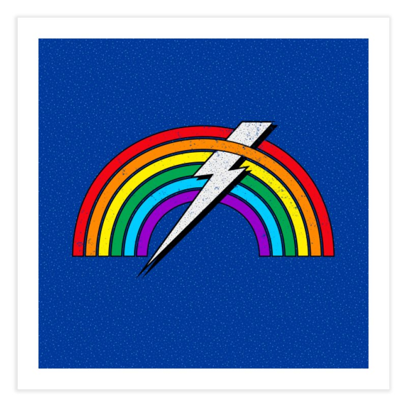 Powered By Rainbow Lightning Home Fine Art Print by 84collective