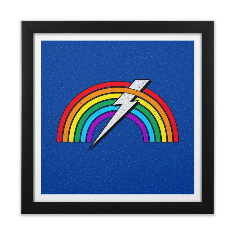 Powered By Rainbow Lightning Home Framed Fine Art Print by 84collective
