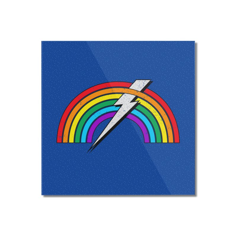 Powered By Rainbow Lightning Home Mounted Acrylic Print by 84collective