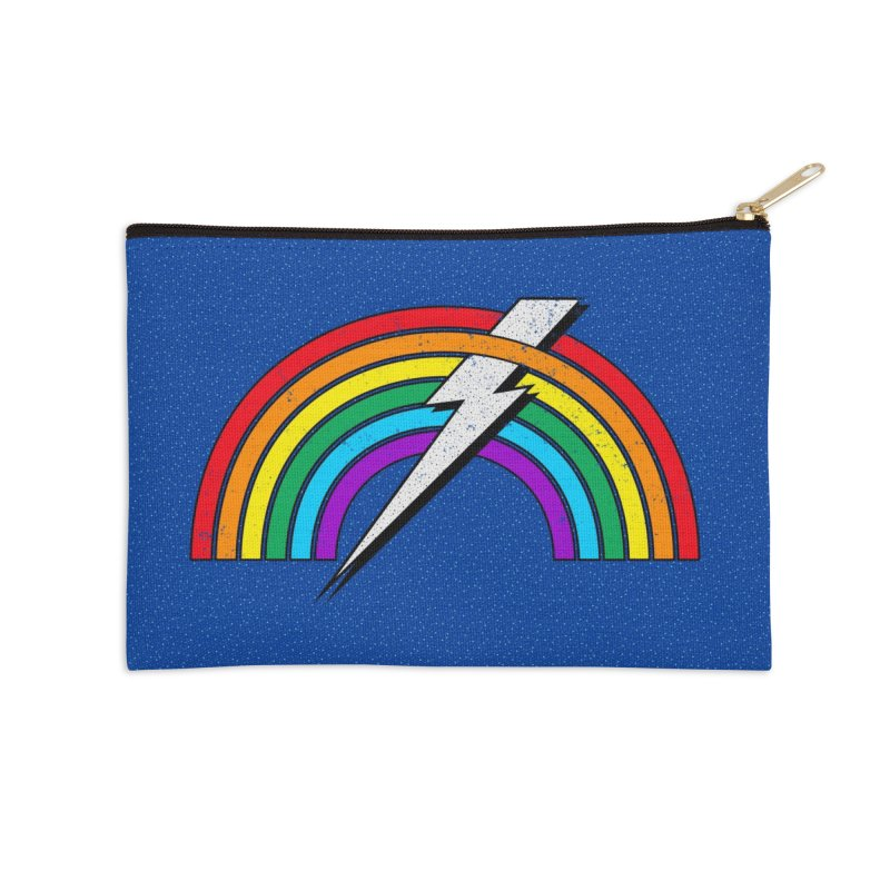 Powered By Rainbow Lightning Accessories Zip Pouch by 84collective