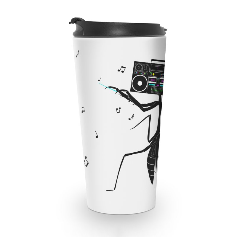 Praying Mantis Radio Accessories Travel Mug by 84collective