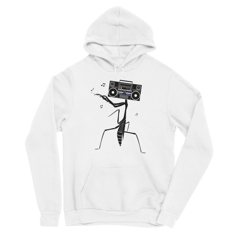 Praying Mantis Radio Men's Sponge Fleece Pullover Hoody by 84collective