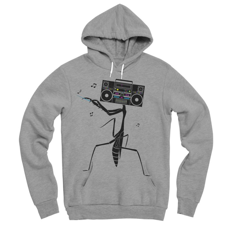 Praying Mantis Radio Women's Sponge Fleece Pullover Hoody by 84collective