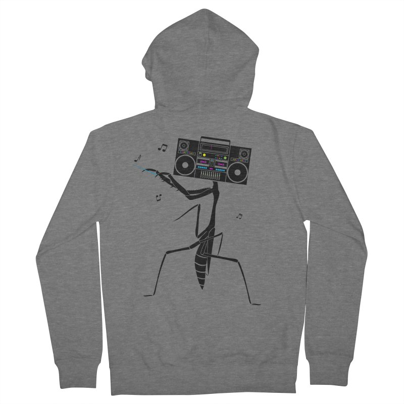 Praying Mantis Radio Women's French Terry Zip-Up Hoody by 84collective