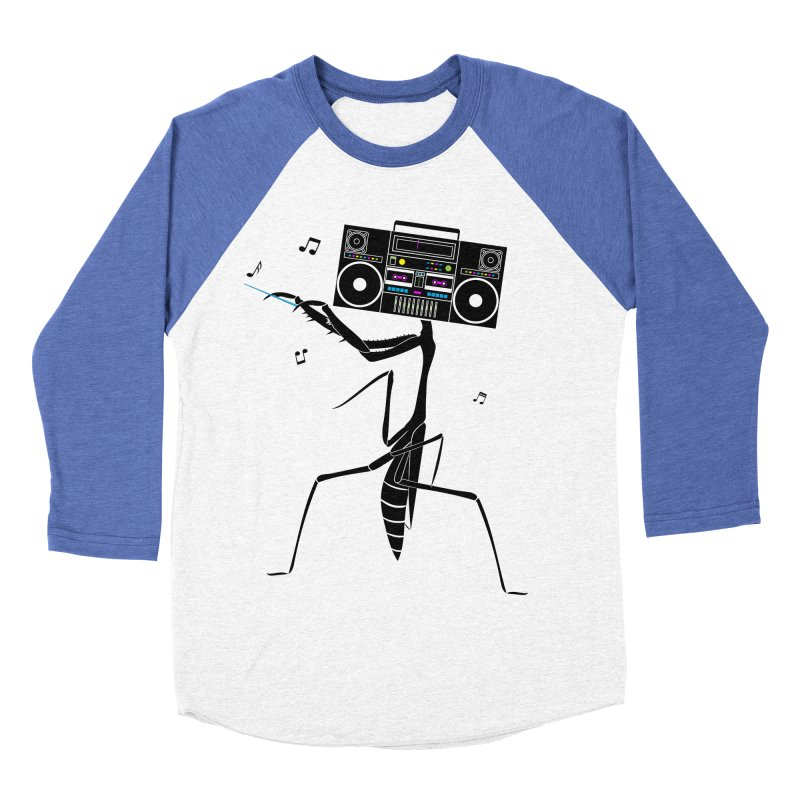 Praying Mantis Radio Women's Baseball Triblend Longsleeve T-Shirt by 84collective