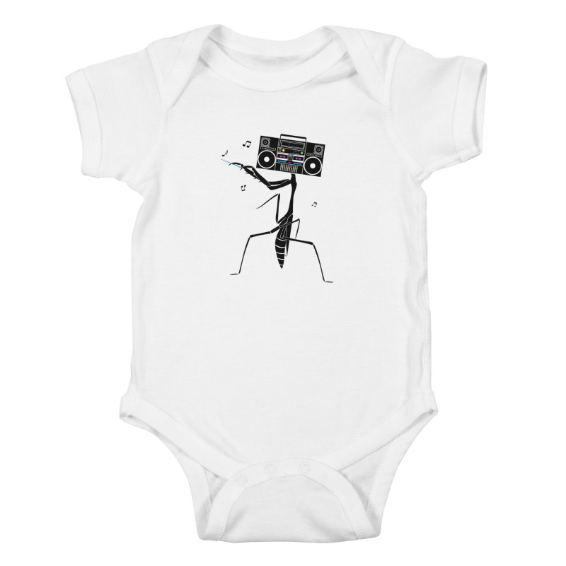 Praying Mantis Radio Kids Baby Bodysuit by 84collective