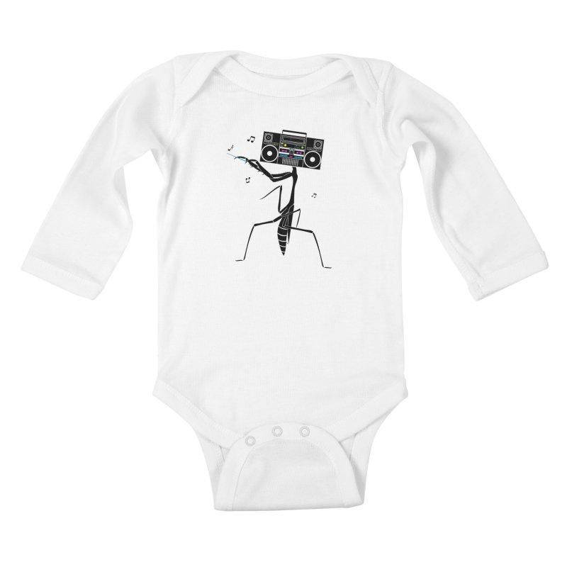 Praying Mantis Radio Kids Baby Longsleeve Bodysuit by 84collective