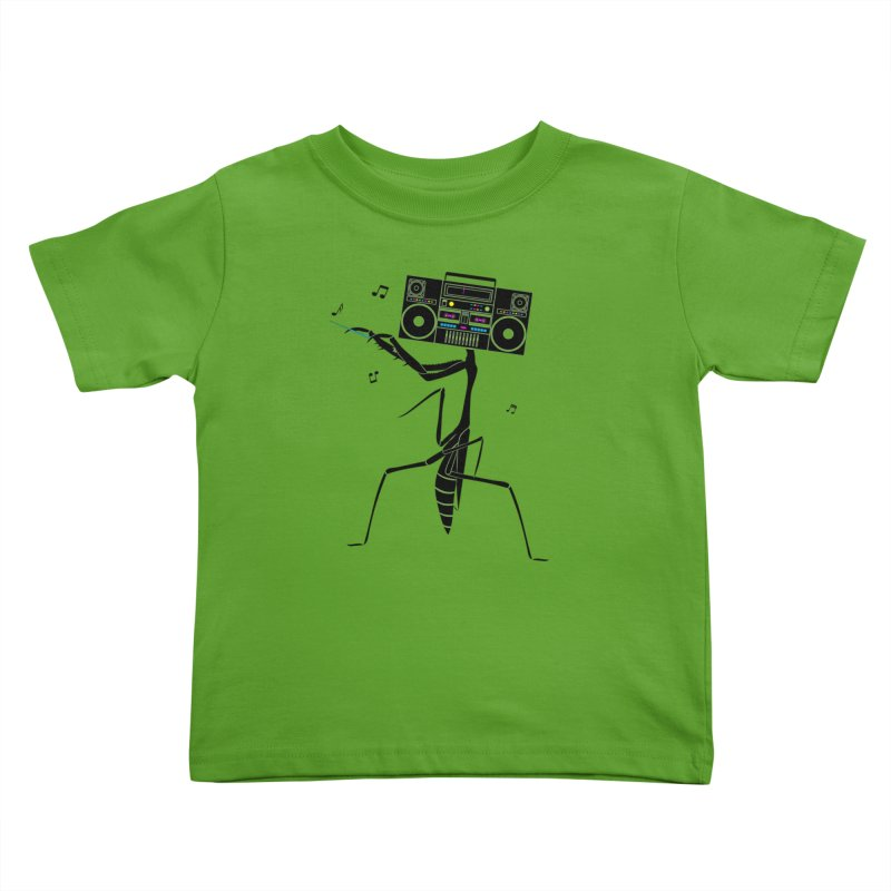 Praying Mantis Radio Kids Toddler T-Shirt by 84collective