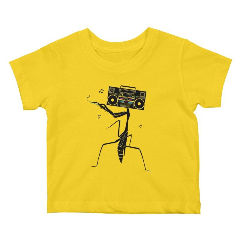 Praying Mantis Radio Kids Baby T-Shirt by 84collective