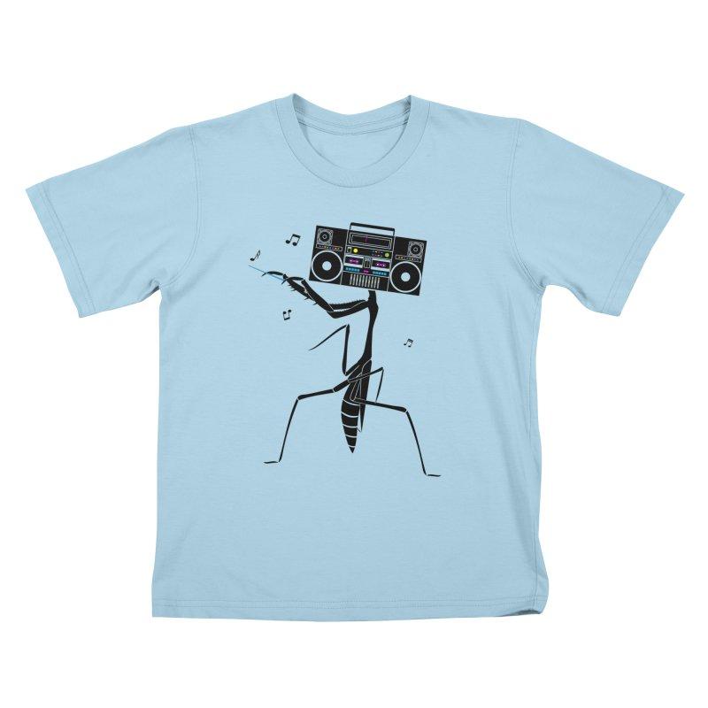 Praying Mantis Radio Kids T-Shirt by 84collective