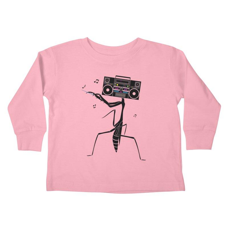 Praying Mantis Radio Kids Toddler Longsleeve T-Shirt by 84collective